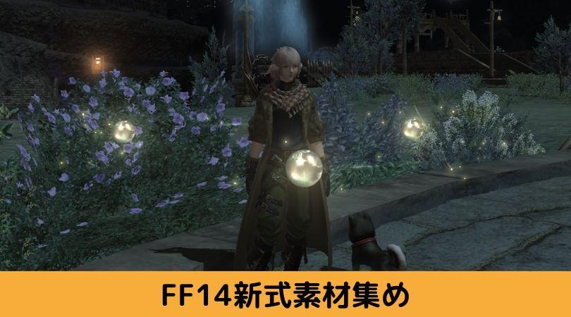 FF14新式素材集めに行くキャラクターの写真