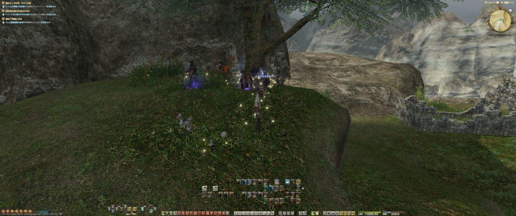メルバウ原木の採集場所